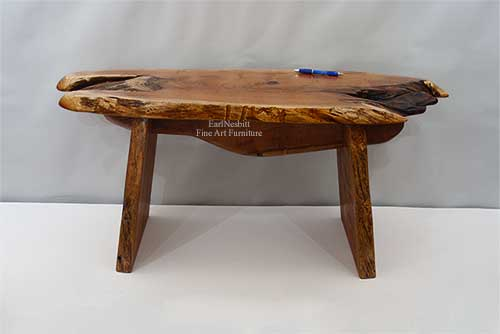mesquite live edge outdoor bench