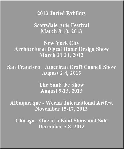 2013 exhibit schedule